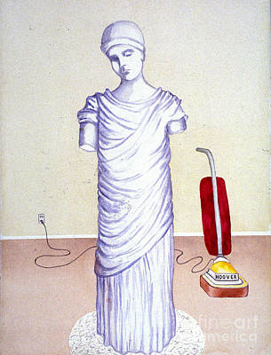 Painting - Goddess With Vacuum by Patricia  Tierney