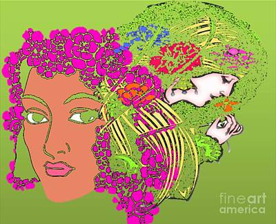 Painting - Goddesses Of Mother Nature by Belinda Threeths