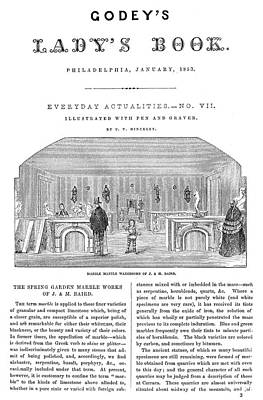 Godey's Lady's Book, 1853 Art Print by Granger