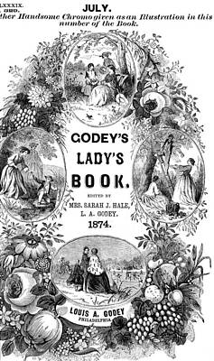 Godey's Lady's Book, 1874 Art Print by Granger