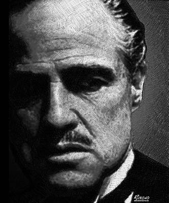 Celebrities Royalty-Free and Rights-Managed Images - Godfather Marlon Brando by Tony Rubino