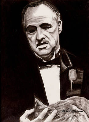 Drawing - Godfather by Michael Mestas