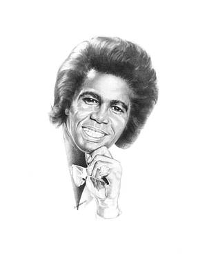 Art Of Soul Singer Drawing - Godfather Of Soul by Gordon Van Dusen