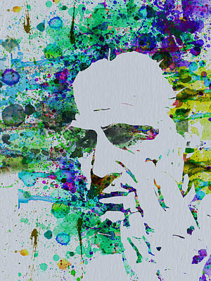Series Painting - Godfather Watercolor by Naxart Studio