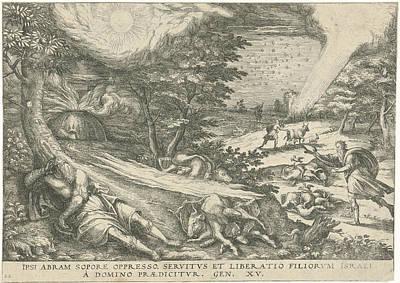 Gods Covenant With Abraham, Print Maker Symon Novelanus Art Print by Symon Novelanus And Johann Bussemacher