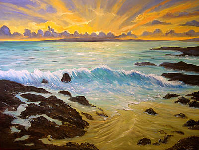 Painting - God's Creation Of A New Day by Connie Tom