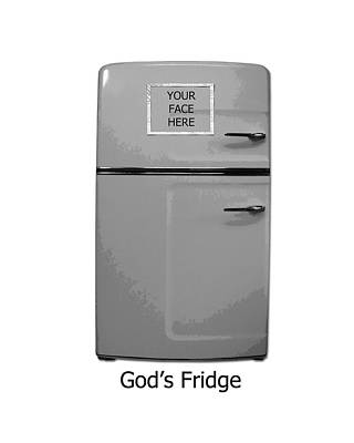 Digital Art - God's Fridge by Stephanie Grooms