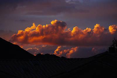 God's Golden Clouds Art Print