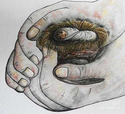 Manger Painting - God's Greatest Gift  by Eloise Schneider