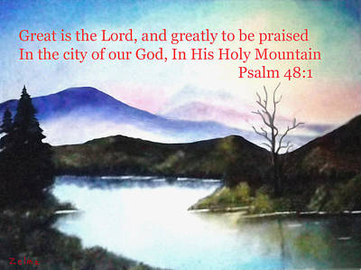 God's Holy Mountian Art Print by Zelma Hensel