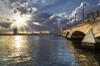 God's Light Over West Palm Beach Art Print
