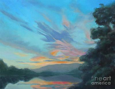 God's Morning Art Print by Karen Burkland