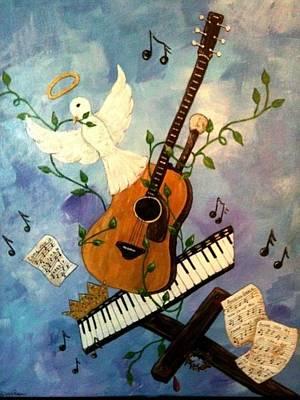 God's Music Art Print by Suzanne Brabham