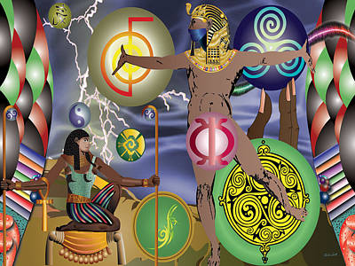 Charles Smith Painting - Gods Of Energy by Charles Smith