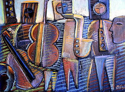 Cardboard Mixed Media - Gods Of Jazz by Gerry High