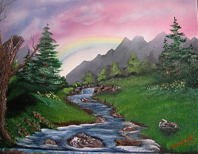 Saw Blades Painting - God's Promise by Ken Frazer