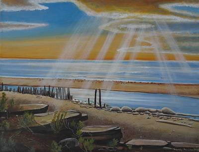 God's Rays / Long Point Original by Wendy Bering