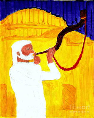 Talmud Painting - God's Shofar Blast Is Calling Israel And Judah  Keep The Sabbath Holy Build The Jerusalem Temple 1 by Richard W Linford