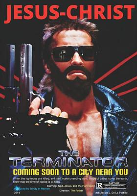 God's Terminator Art Print by Jessie J De La Portillo
