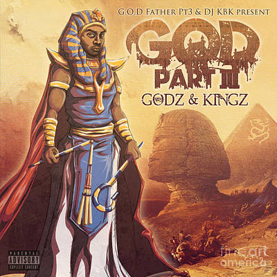 Ghetto Drawing - Godz And Kingz by Tuan HollaBack
