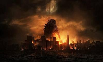Godzilla 2014 B Art Print