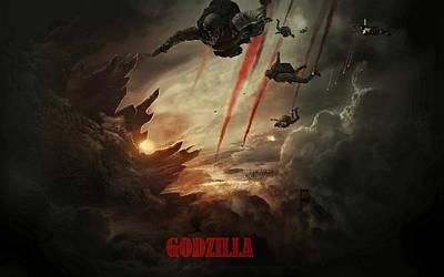 Godzilla 2014 C Art Print by Movie Poster Prints