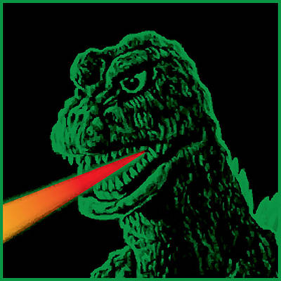 Godzilla Art Print by Gary Grayson