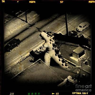 Art In Halifax Digital Art - Godzilla Rampage In Seattle by John Malone Hlifax Digital Artist