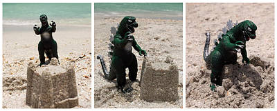 Cult Photograph - Godzilla Versus The Sand Castle by William Patrick