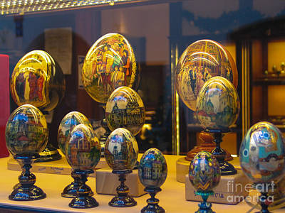 Photograph - Goebel Hand Painted Art Egg Collection by Rene Triay Photography
