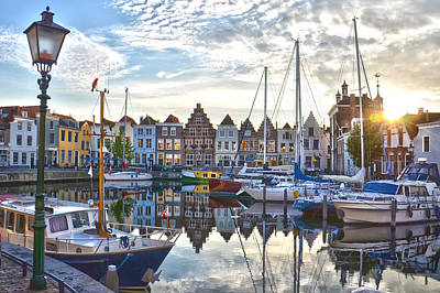 Goes Harbour Art Print by Frans Blok