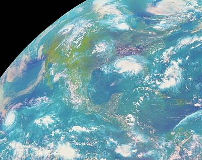 Goes Image Of North & Central America Art Print by Nasa/science Photo Library