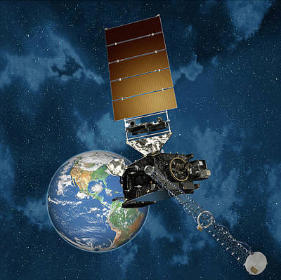 Generation Next Photograph - Goes-r Satellite In Orbit by Lockheed Martin/nasa