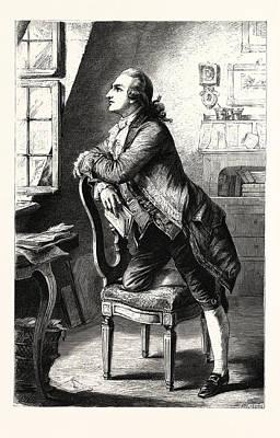 Goethe At Home. Johann Wolfgang Von Goethe 28 August 1749 Art Print
