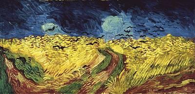 Gogh, Vincent Van 1853-1890. Wheat Art Print by Everett