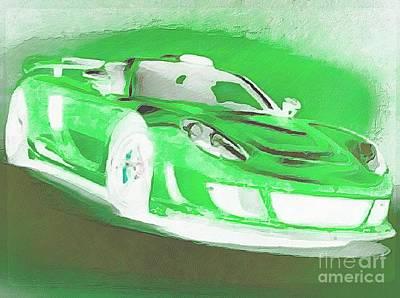 Goin Glow Green Art Print by Catherine Lott