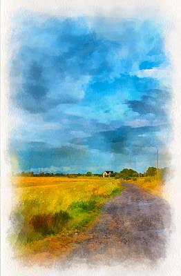 Back Roads Digital Art - Goin' Home 3 by Steve Harrington