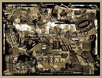 Goin' To Kansas City - Grunge Collage Art Print