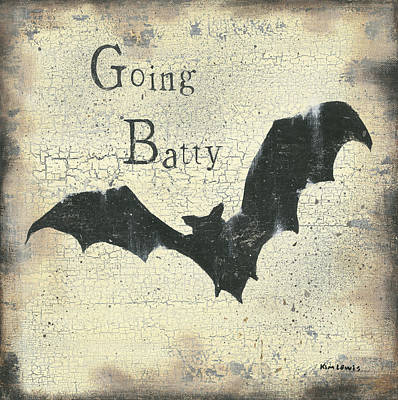 Painting - Going Batty by Kim Lewis