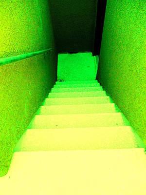 Going Down Green Original by Dietmar Scherf