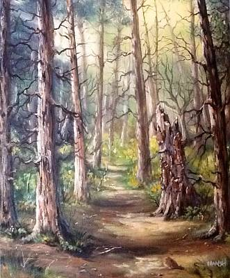 Art Print featuring the painting Going For A Walk by Megan Walsh