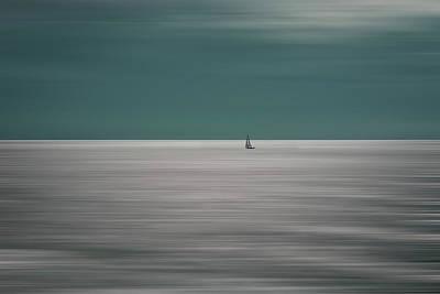 Sailboat Wall Art - Photograph - Going For The Horizon by Bernardine De Laat