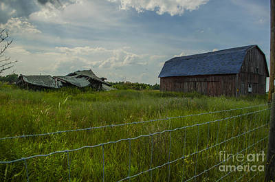 Photograph - Going Going Gone Barns Breitung Michigan by Deborah Smolinske