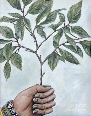 Going Green Eva Marie Fitzsimmons Art Print by Sheldon Kralstein