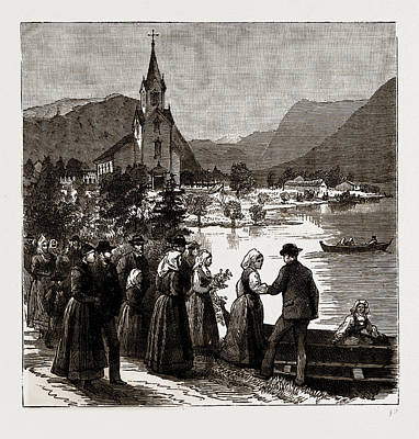 Going Home From Church, Norway Art Print by Litz Collection