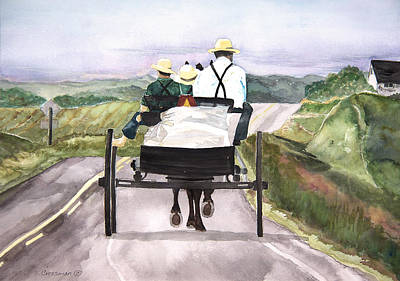 Going Home From Market Original by Susan Crossman Buscho