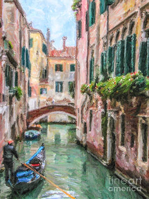 Venice Digital Art - Going Home by Liz Leyden