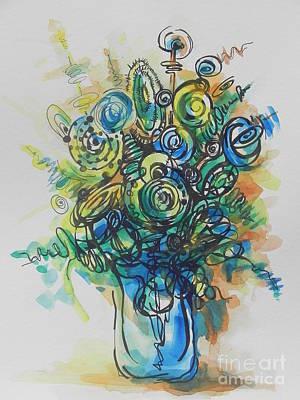 Going In Circles  Art Print by Chrisann Ellis