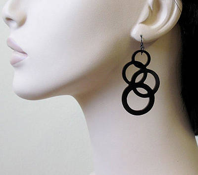 Laser Cut Jewelry Jewelry - Going In Circles-inseparable Circles Earrings by Rony Bank