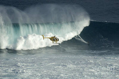 Laird Hamilton Photograph - Going Left At Jaws by Bob Christopher